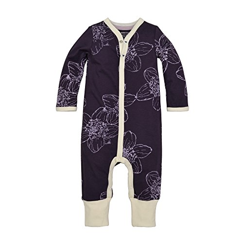 Burt's Bees Baby Baby Organic Coverall, Blackberry Floral, 3-6 Months