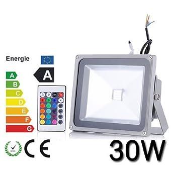 fonction de m/émoire LED ext/érieure t/él/écommande verges panneaux daffichage 30W RGB LED paysage pour jardin 16 couleurs et 4 modes LED /à changement de couleur lumi/ères de s/écurit/é