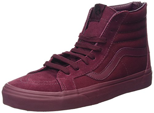 Vans Sk8-Hi Reissue Zip, Sneakers Hautes Mixte Adulte Rouge (Mono port royale)
