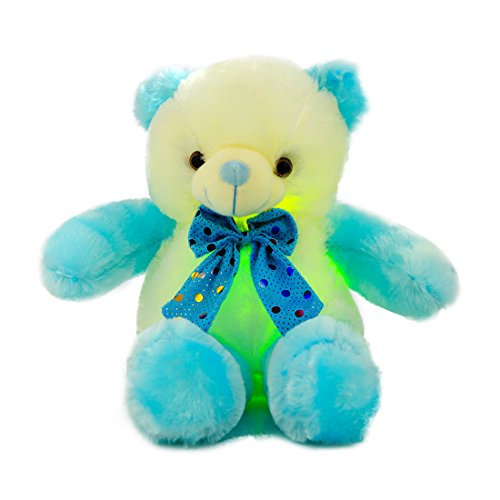 Cheap AMFO LED Light Nights Teddy Bear Stuffed Animals Plush Night Light Toy Colorful Gleamy Gift 20Inch (Blue&White) supplier