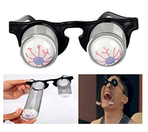 Gwill Halloween Costume Party Joke Toy Scary Horror Slinky Pop Out Eye Gag Droopy Eyes Glasses 3 Pack ()