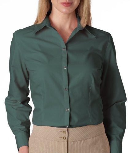 Van Heusen Ladies' Long-Sleeve Silky Poplin - Bayleaf - XL