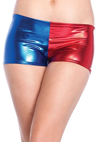 Leg Avenue Women's Misfit Booty Shorts, Blue/red, Large for $<!--$5.25-->