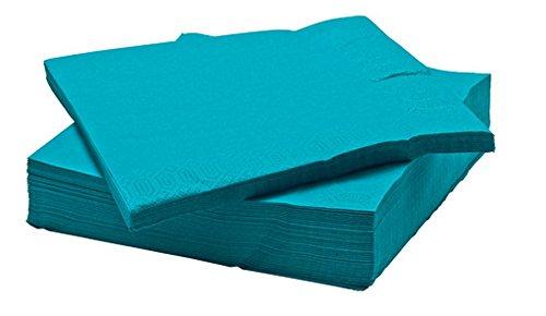 kea FANTASTISK Paper Napkin, turquoise (100 pack) (Napkin Turquoise)