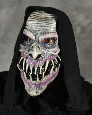 Victum Evil Scary Demoan Fanged Ghoul Latex Adult Halloween Costume Mask - Fanged Skull Masks