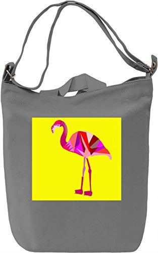 Flamingo Print Borsa Giornaliera Canvas Canvas Day Bag  100% Premium Cotton Canvas  DTG Printing 