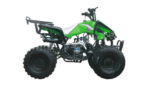 125cc Sports ATV 8'' Tires with Reverse, Green