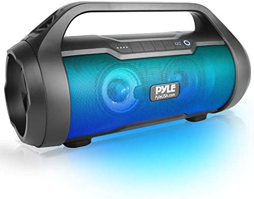 Pyle Wi-fi Transportable Bluetooth Boombox Speaker – 500W 2.0CH Rechargeable Growth Field Speaker Transportable Barrel Loud Stereo System with AUX Enter/USB/SD/Fm Radio, 3″ Subwoofer, Voice Management – PBMWP185