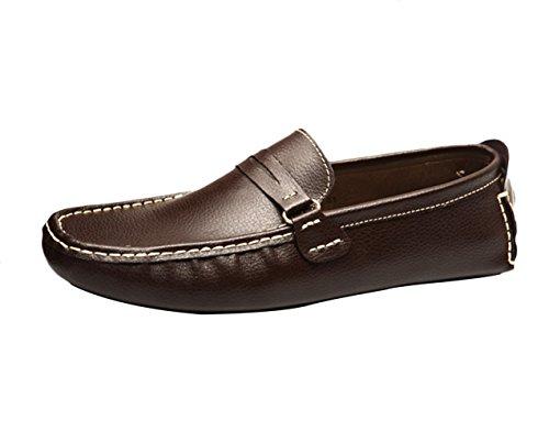 Mocasines Zapatos Calzado café Studio Hombre de de Respirable Zapatos Cuero SK Barco Del Conducción 1wYHXqCx