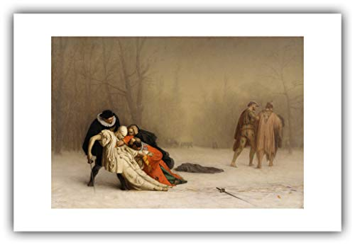 The Ibis Print Gallery - Jean-Leon Gerome : ''The Duel After The Masquerade'' (1857-1859) - Giclee Fine Art ()