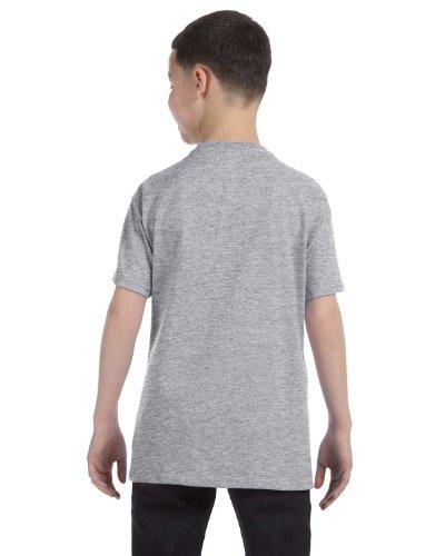 Jerzees Youth 5.6 oz., 50/50 Heavyweight Blend T-Shirt, XL, OXFORD (Blend Jerzees Youth Heavyweight)