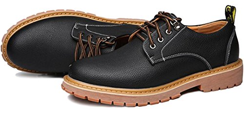 PPXID Mens British Style Lace Up Casual Work Shoes Black eroT3lvB