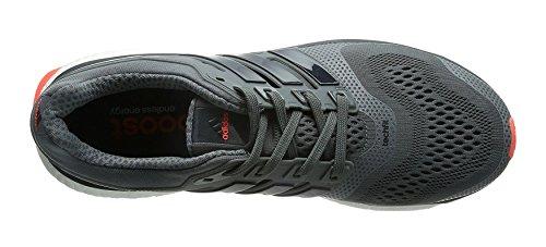 Adidas Energy Boost ESM Zapatilla de Running Caballero, - Grey / Red, 41 1/3 Gris