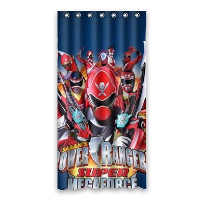 Custom Made Cute Cartoon Power Rangers Waterproof Soap Resistant Shower Curtain 36quot X 72quot