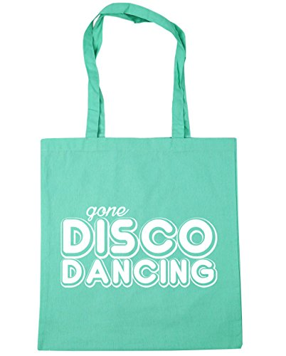 HippoWarehouse Disco Gone Shopping Mint Beach x38cm litres Bag Tote 10 Gym Dancing 42cm qgg6xrO5