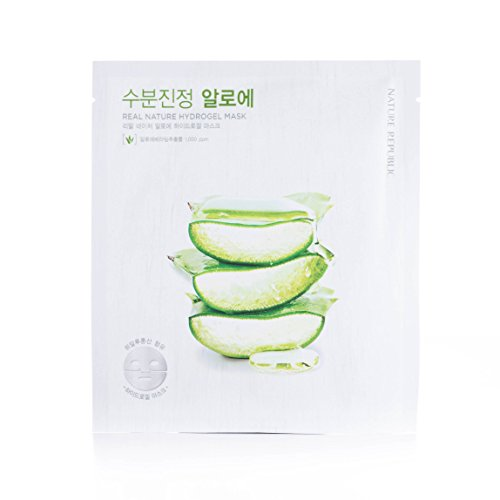 Nature Republic Real Nature Hydrogel Mask, Aloe, 5 Count
