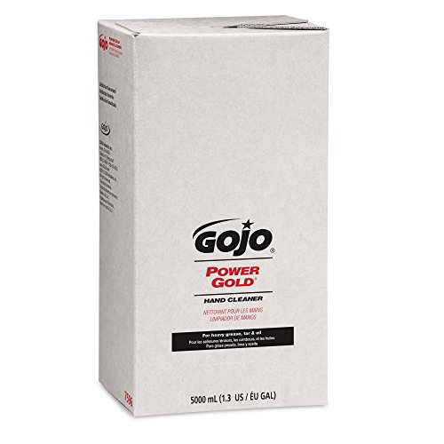 GOJO 7596 POWER GOLD Hand Cleaner, 5000mL, Citrus Scent, Green, Compatible with Dispenser #7500-01 (Case of 2) by Gojo