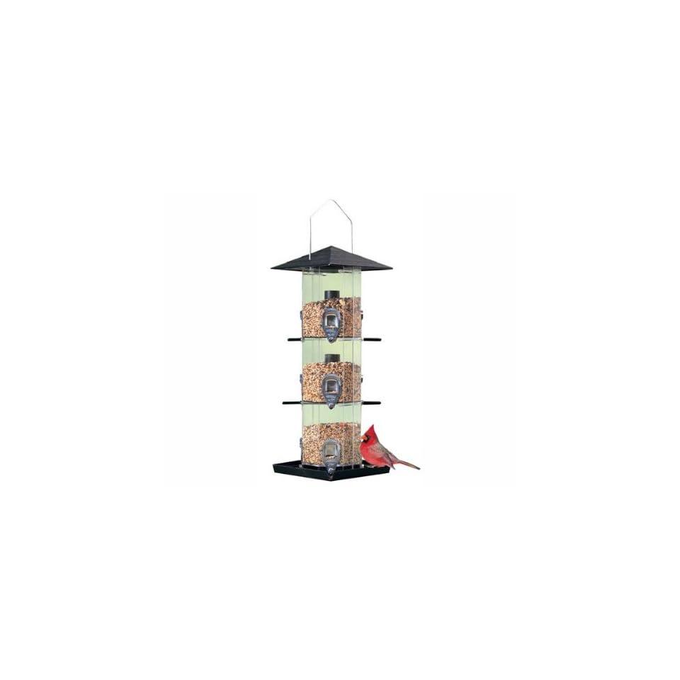 Perky Pet Deluxe Grandview Wild Bird Feeder, 3 Independent Seed