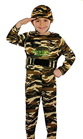 Totally Ghoul (Halloween)Army Camo costume Boyu0027s ~Medium size~  sc 1 st  Amazon.com : army costume for boy  - Germanpascual.Com