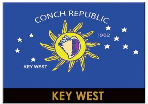 Key West Florida Conch Republic Flag Fridge Collector