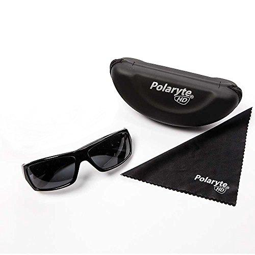 4392d971789 Polaryte HD Vision Polarized Sunglasses For Men Women Driving Sports Golf  UV Protection Black