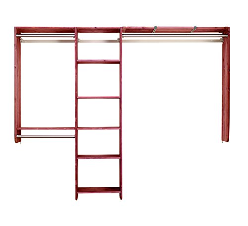 Cedar Green 801 Aromatic Cedar Complete Closet Kit, 14-Feet of Shelving, 10-Feet for Hanging and Hardware