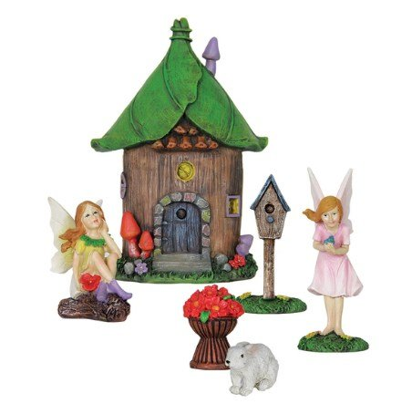 Exhart 11714 AC-powered LED Fairy Fountain Kit, Durable Resin Sculpture, Decorative, Outdoor