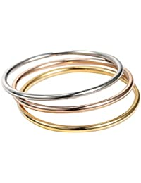 Jewelry Stainless Steel Womens Finger Rings for Teen Girls 3 Pcs a Set Promise Ring Eternity,sizes 2-10