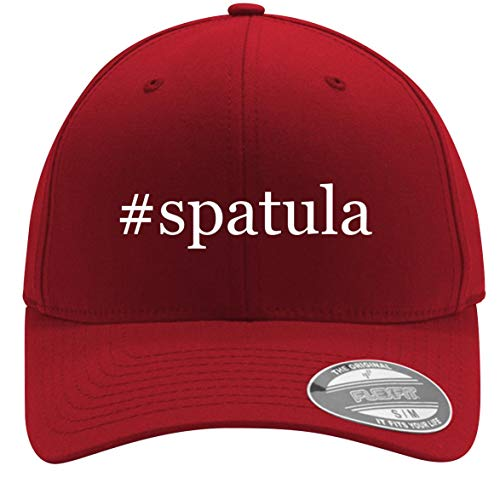 #Spatula - Adult Men's Hashtag Flexfit Baseball Hat Cap, Red, Small/Medium