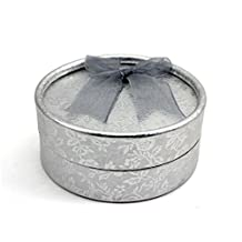Chic Bowknot Jewelry Necklace Ring Earring Package Box Gift Case Display Holder Silver