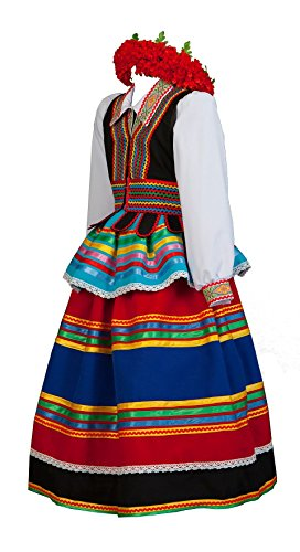 (Polish costume women folk dress)
