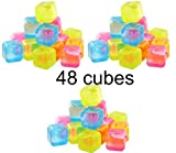 reusable ice cubes - Reusable Plastic Ice Cubes - Colors May Vary (48 cubes)
