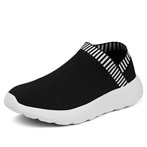 konhill Women's Athletic Walking Shoes - Comfortable Casual Work Gym Slip On Sneakers 9 US Black, 40