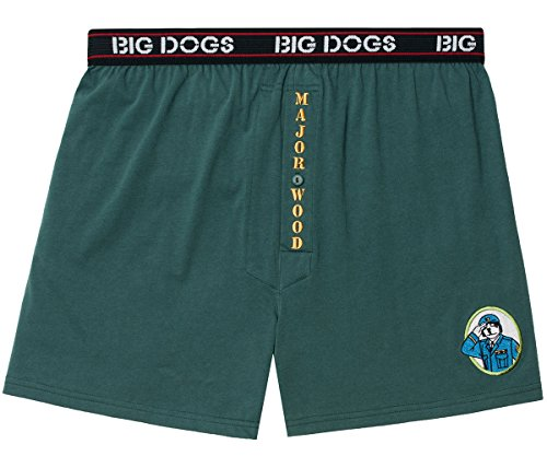 Big Dogs Major Wood Embroidered Knit Boxers 3X Hunter Green