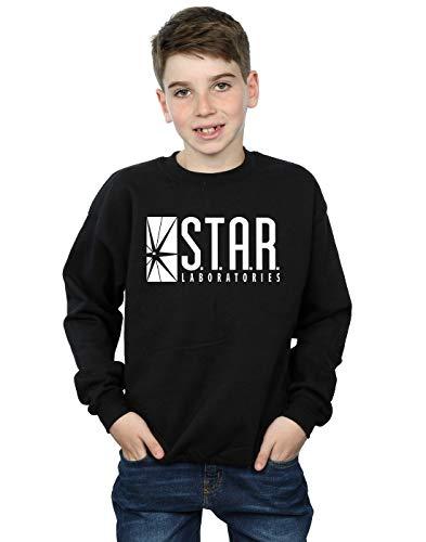 (DC Comics Boys The Flash Star Labs Sweatshirt 12-13 Years Black )