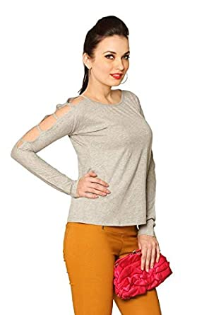 Miss Chase Women's Cut-Out Top Women's T-Shirts at amazon