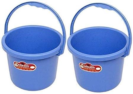Saurabh Shaktiman Unbreakable plastic Bucket 5 litres (Blue) - Set of 2