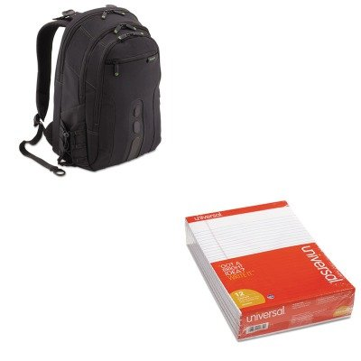 KITTRGTBB013USUNV20630 - Value Kit - Targus Spruce EcoSmart Backpack (TRGTBB013US) and Universal Perforated Edge Writing Pad (UNV20630) by Targus