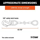 CURT 80136 43-7/8-Inch Nylon-Coated Trailer Safety
