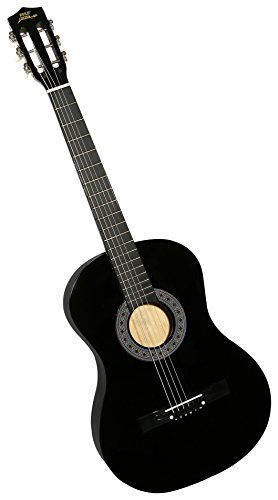 "Pyle 38"" Wooden Beginner Acoustic Guitar - Classical and Traditional Style w/ String Detachable Strap Pitch Pipe Tuner Pick and Travel Gig Bag Accessory Starter Kit Perfect for Children Size PGAKT0392 by Pyle"