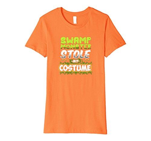 Womens Premium Swamp Monster Stole Halloween Costume Novelt T-Shirt Medium Orange (Swamp People Costume)