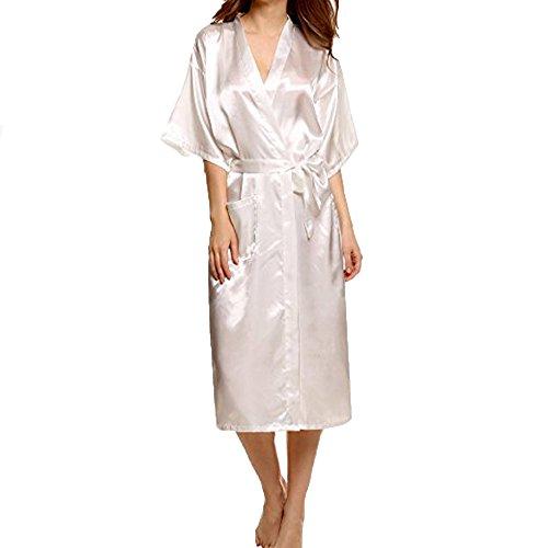 Costume En Babydoll Femmes S'habiller Robe Vêtements blanc Bain Morchan Sous vêtements Corps Du Ceinture ❤ Dentelle Lingerie Soutien Soie Z gorge De Kimono Sexy Nuit tF4FHqwf