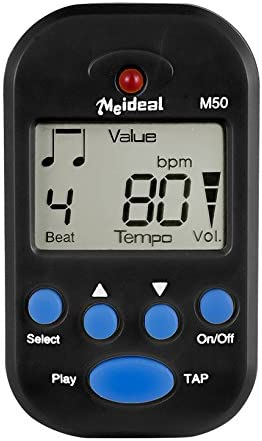 Digital Metronome Mini Portable Pocket Clip-On Electronic Metronome With Battery Suitable for Piano Violin Guitar Drum Flute A