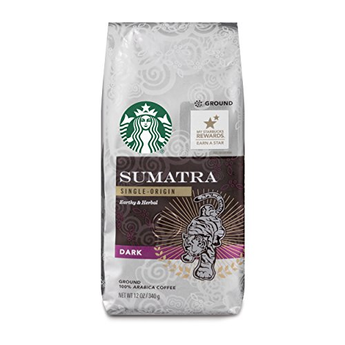 Starbucks Sumatra Dark Roast Ground Coffee, 12-ounce bag (Pack of 6)