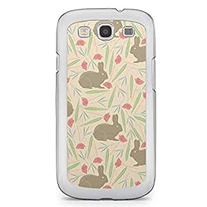 Spring Rabbit Pattern Samsung Galaxy S3 Transparent Edge Case - Animal Patters Collection
