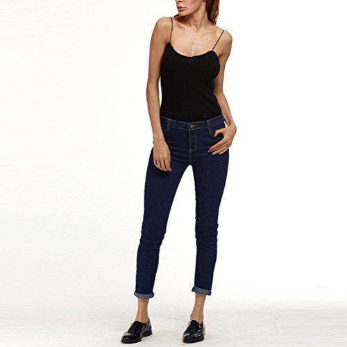 Black Trousers Waisted amp; Pencil Slim Joli Skinny jeans Ripped High Size Plus Fit XXXXXL Mode Women Pants Dark Zhuhaitf Blue 8R7wxg5qXn