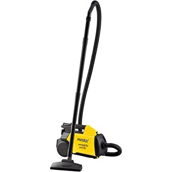 Eureka Mighty Mite Canister Vacuum, with 12 Amp Motor, and Powerful Strong Suction, 6-Piece Attachment Set, Crevice and Upholstery Attachment, with Blower Port, and 20 Ft Power Cord with Quick Release