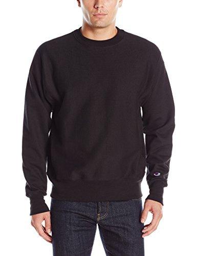 Champion LIFE Men's Reverse Weave Sweatshirt, Black, L