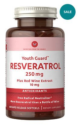 Vitamin World Youth Guard Resveratrol 250mg Plus red Wine Extract 10mg 60 rapid release softgels Discount