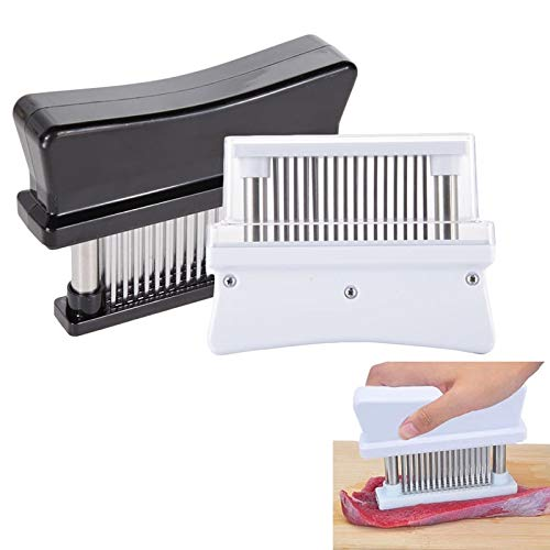 (Meat Tenderizer - Practical Meat Tenderizer With 48 Sharp Stainless Steel Blades Gadgets Amp Poultry - Black Easy Electric Tol Hyggie In Joseph Machine Japan One)